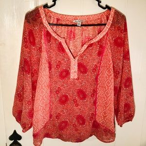 American Eagle Outfitters Boho Peasant Top Sz SP
